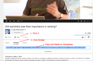 sharing youtube embed code