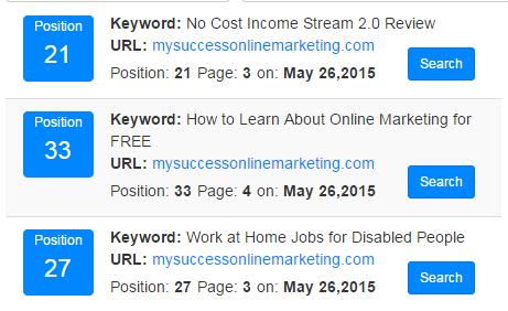 3 keywords ranking