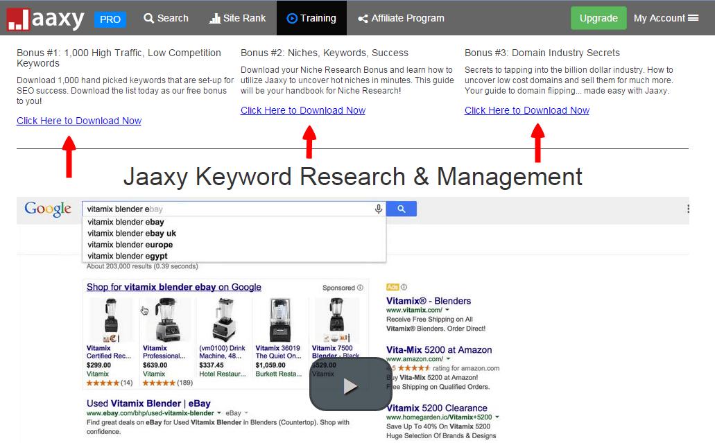 Jaaxy training to google ranking