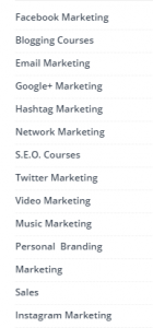 Marketing and Networking University Course Library