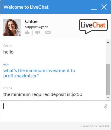 Profit maximizer live chat