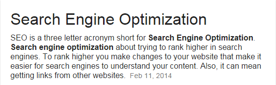 SEO means - Google Search