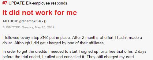 Zip Nada Ziclh complaint review