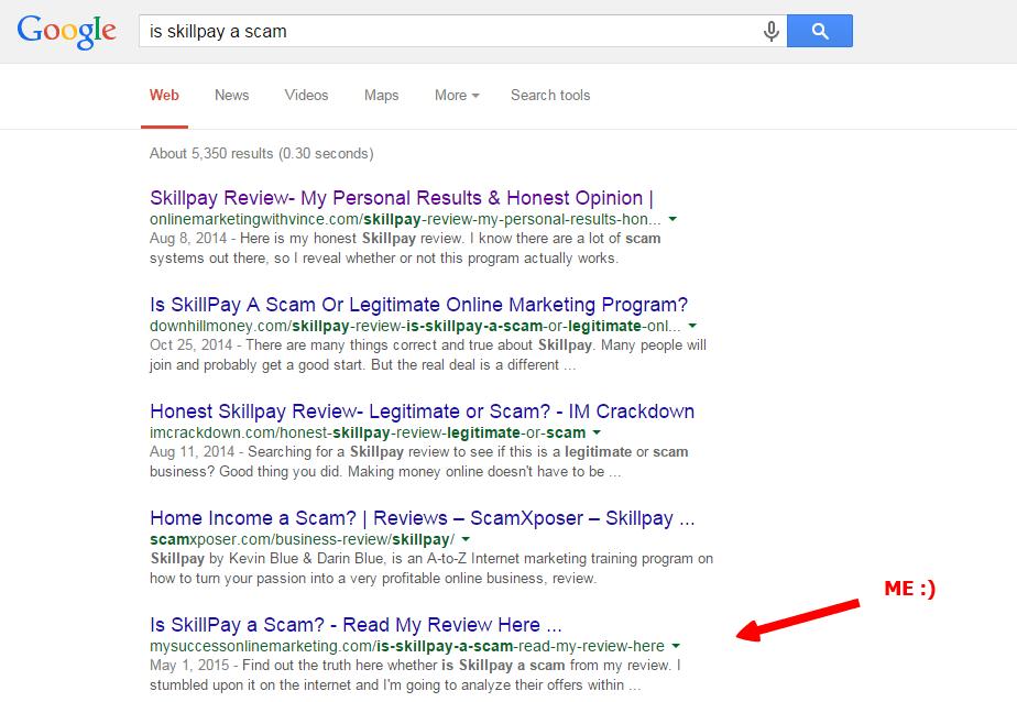 is skillpay a scam screenshot