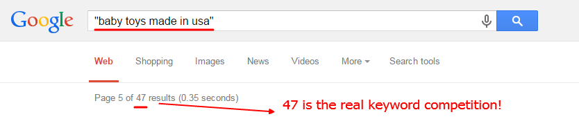 47 is the real keyword competition