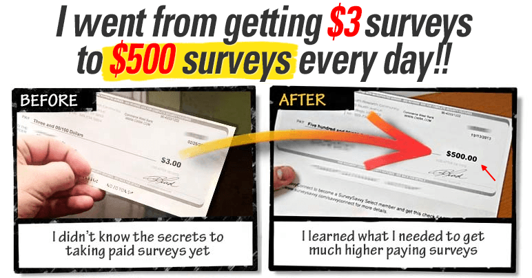 take surveys for cash scam proof