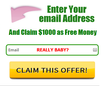 enter email and get $1000 abundance scam