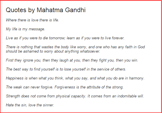 why online businesses fail quote by mahatma gandhi