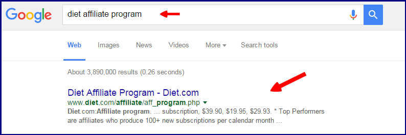 diet affiliate program for selling other companies product online