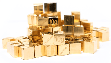 example of gold cubes from bitgold