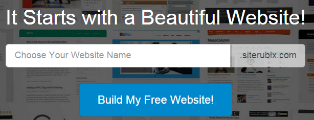 SiteRubix Build Stunning Free Websites free of charge-min