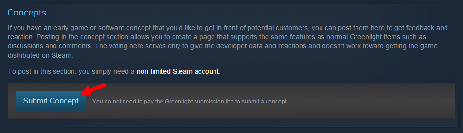 how to sell game on steam submit concept
