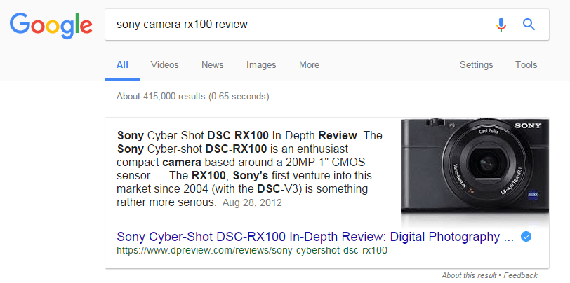 sony camera rx100 review