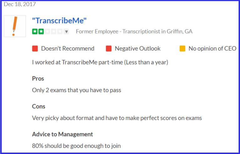 TranscribeMe Qualification