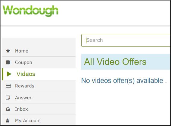 Wondough Watching Video Reward